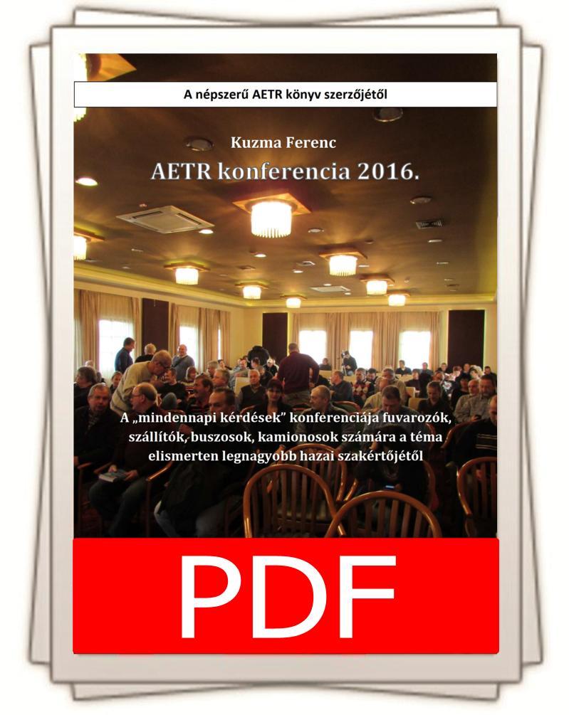 2016-os AETR konfrencia könyv